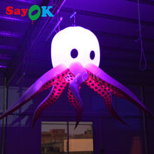 Free Delivery reality ocean animal Giant toy inflatable octopus with cheap price Lighting octopus for Party/Stage/wedding/event(China)