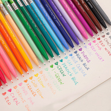 Kawaii Plastic Colored Watercolor Pen Cute Graffiti Sketch Markers Pen For Art School Students Painting Drawing Free Shipping(China)