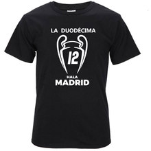 2017 real 100% cotton Champions League Winners 12 shirts Short Sleeve T Shirt Man casual for madrid fans tee S117(China)