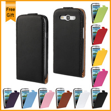 Luxury Genuine Leather Wallet Flip vertical Stand Cover for Samsung Galaxy S3 i9300 SIII Phone Case With Card Holder 2 Style(China)