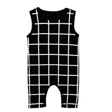 Buy Newborn Infant Toddler Baby Boy Girl Plaid Black White Jumpsuit Romper Playsuit Outfits Clothes Sleeveless Rompers Cool for $6.72 in AliExpress store
