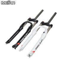 MEIJUN 26 Inch Mountain Bicycle Downhill Road Bike Fork MTB Exquisite Fork Efficient Shape Bumpers white black