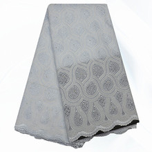 PCL217 White Wholesale 100% Cotton Material Swiss Lace Fabric High Quality African Swiss Voile Lace Fabric Free Shipping