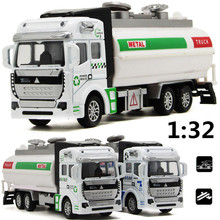 1:32 alloy model firefighting water tankers, educational toys, sound and light back to power simulation model, free shipping
