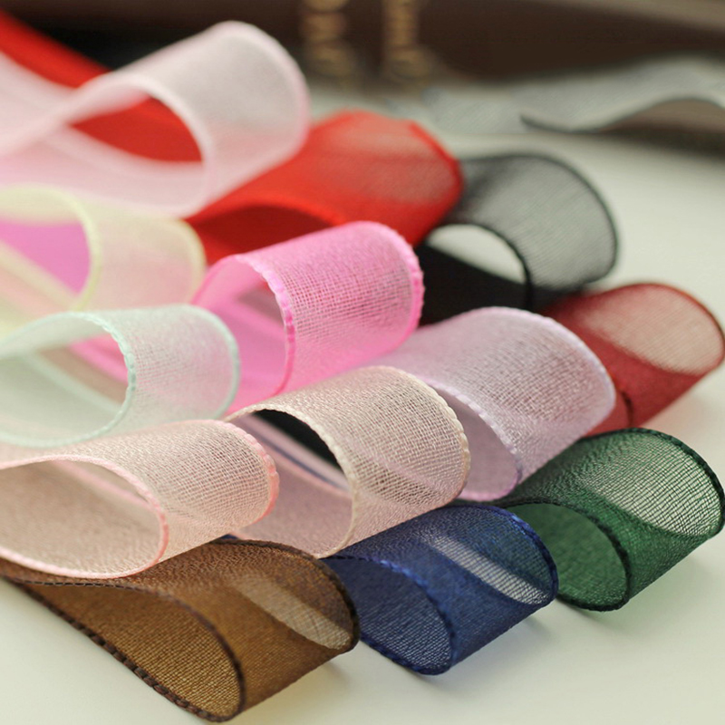 5meter/lot New 15mm obscure Snow Yarn Ribbon Handmade DIY Hair Accessories Korean Bow Material New T-002