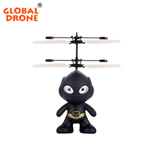 Global Drone 2CH Mini RC Spaceman Helicopter Radio Control Infrared Induction Remote Control Toys with Altitude Holder(China)