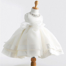 2017 Summer Trend Baby Girl wear white Princess Dress Kids Wedding Dress ball gown Girls Dresses For Children vestido de festa