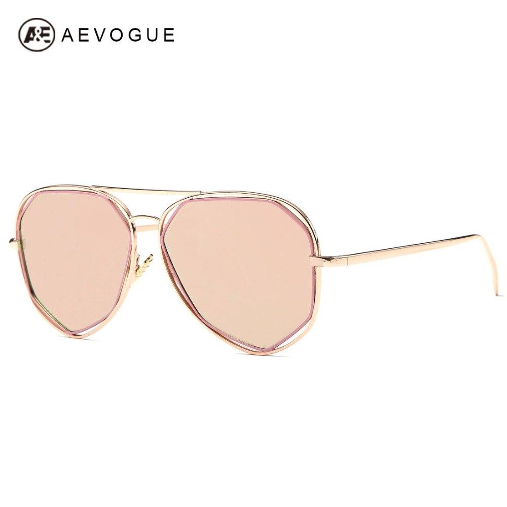 AEVOGUE Sunglasses Women Original Brand Designer Geometry Double-Bridge Coating Vintage Sun Glasses With Box UV400 AE0380<br><br>Aliexpress