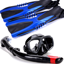 Scuba Diving equipment package set snorkeling kit junior 3pcs Of Mask Snorkel And Fins Snorkelling 40-41(China)