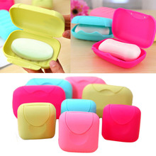 Bathroom storage Holder 2017 New Bathroom Dish Plate Case Home Shower Travel Hiking Holder Container Soap Box drop shipping(China)