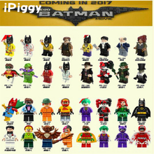 Blocks Building Clown Joke Super Heroes DC Batman r Harley Quinn Catwoman Robin Riddler DIY Dolls Toy For kid Gift(China)