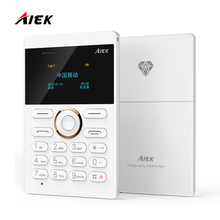 New arrival Ultra Thin AIEK/AEKU E1 Mini Cell Card Phone Student unlocked Mobile Phone Pocket Phone Low Radiation Multi Language(China)