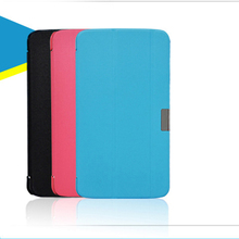 Fashion Three Folds PU Leather Folding Folio Case  for HP 7 Voice TAB for 7'' Tablet PC Cover Case