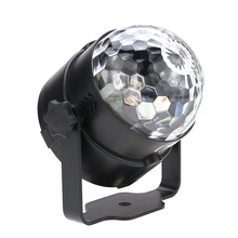 Disco Stage Effects lamp 6W Mini LED RGB  Magic Ball Light Small  Sound Activated Portable with USB  for KTV Club Bar Party