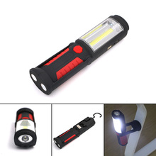Outdoor USB Rechargeable Lamp COB LED Flashlight Work Magnet Stand Light with Hook --M25