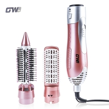 GW 220-240V Electric Hair Curling Irons 1200W Styler Hair Blow Dryer Machine Brush Comb Straightener Curler Styling Tool(China)