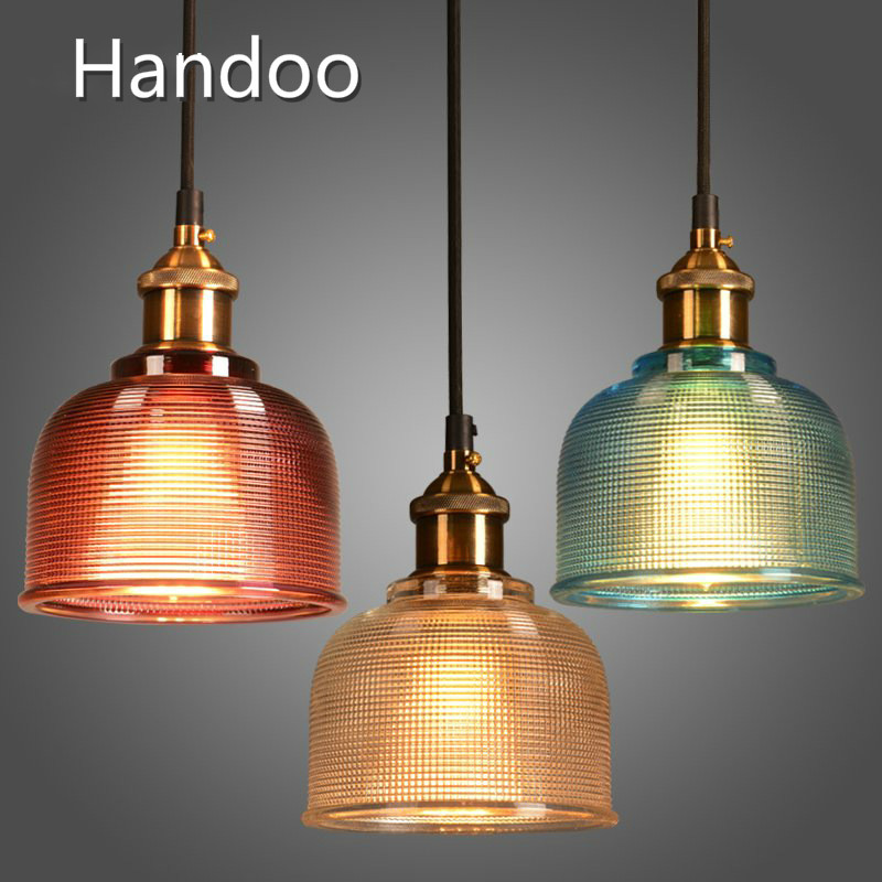 15cm  industry colorful glass Pendant light Furnishing European bar restaurant living room bedroom study glass lamp<br>