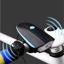 2 in 1 MTB Bell Mountain Bike Car Bicycle Headlight Flashlight LED USB Charging Horn Bike Cycle Accessories