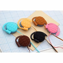 Sibyl IG-2 Chocolate style Fashion Macaron Candy Color Ear Hook Earphone Headphone High Quality for Smart Phone iPhone Android(China)