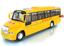 New The American school bus door color model of children's toys car alloy bus toy model  Pull Back School Bus Alloy car models