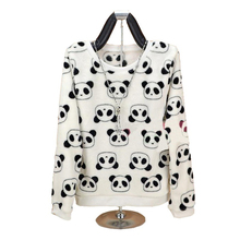 Fashion Brand Harajuku Cute panda harajuku hoody sweatshirt for Women 2017 spring winter high quality Flannel pullover tops(China)