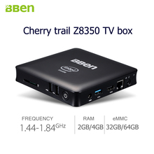 Bben LAN Mini PC Windows 10 Quad Core TV Box WiFi HDMI Intel z8350 Quad Core 2GB/32GB 4GB/64GB EMMC Intel Compute Mini PC Stick