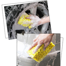 Practical Car Auto Washing Cleaning Sponge Block   Cleaner Wiper Square compressed Mini Yellow Spong