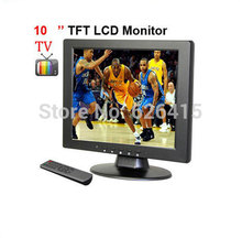 CCTV Accessories 10 inch TFT LCD 4:3 screen VGA/AV/ input monitor with TV 1CH Video input 2Ch Audio input