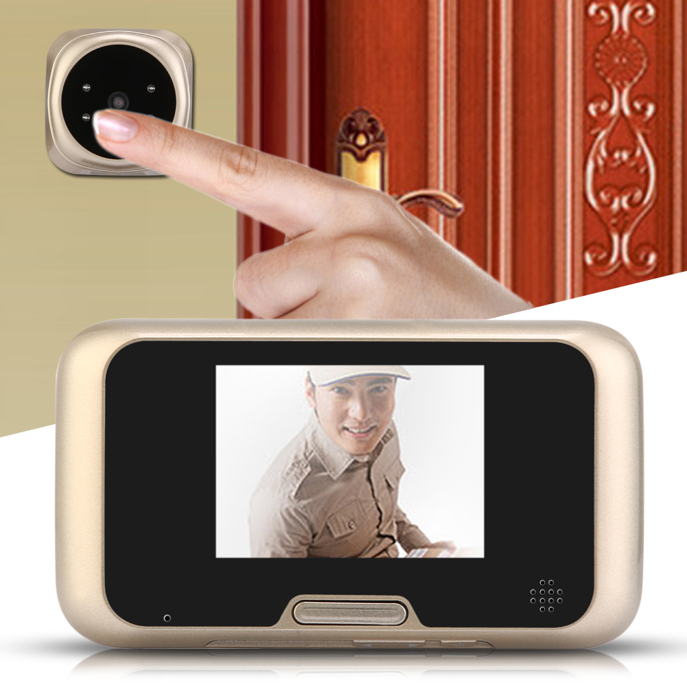 3.2 inch LCD Peephole Viewer Door Security Surveillance Eye Doorbell Color 4 IR LED Camera With Night Vision<br>