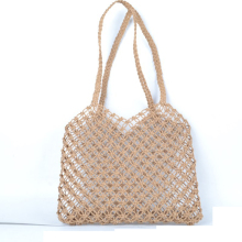 25x25CM Mesh Rope Weaving Tie Buckle Reticulate Hollow Straw Bag No Lined  Net Shoulder Bag Fashion Popular New A4197~1