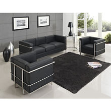 U-BEST Le Corbusier LC2 sofa set,LC2 1,2,3 seater sofa ,modern design living room sofa set,designer living room sectional sofa(China)