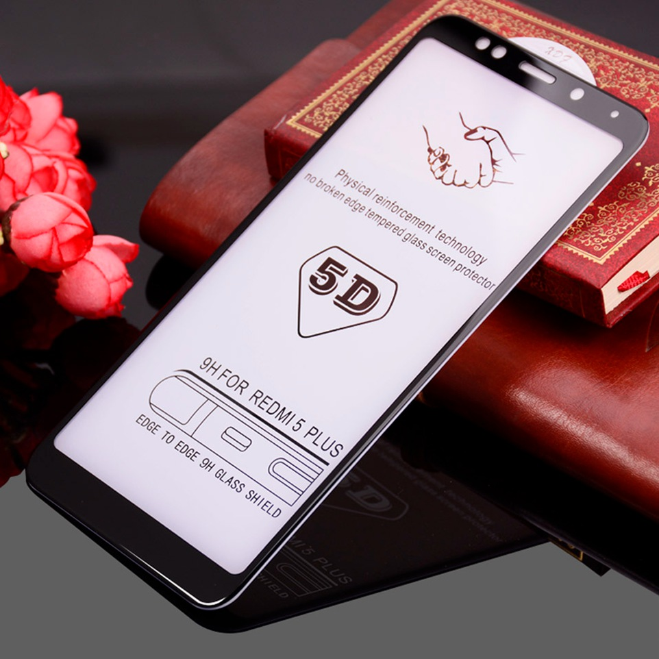 WhaY 5D Glass For Xiaomi Redmi 5 Plus Glass Screen Protector Full Cover Xiomi Xiami Redmi 5Plus Tempered Glasses Protective Film (1)