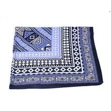 High Quality Fashion Cotton Scarves Women's Square Scarf Blue And White Plaid Print Beach Cover-up Shawls Winer Scarves