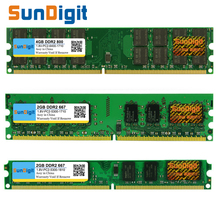 SunDigt DDR2 800 / PC2 6400 5300 4200 1GB 2GB 4GB Desktop PC RAM Memory Compatible DDR 2 667MHz / 533MHz Multiple Models DIMM