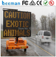 Leeman New advertising equipment product VMS solar outdoor waterproof mobile trailer led sign