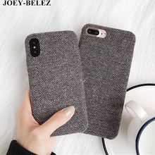 JOEY-BELEZ Phone Cases For iphone 6s Case Coque For iphone X 6 6s 8 Plus Warm Fuzzy Fashion Soft Cloth Skin Back Cover Carcasa(China)