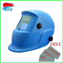fast Shipping BlueInner Lithium Cell And Solar Power Auto Darkening Welding Helmet Grinding Welding Mask HP04-2233DE with glass