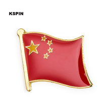China flag pin lapel pin badge 10pcs a lot free shipping(China)
