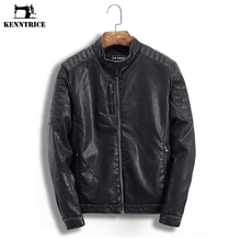 KENNTRICE Motorcycle Jacket Leather Jacket Men Winter Coats Male Faux Leather Jacket Pilot Coat Mens Autumn Jackets Black Solid(China)