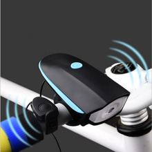 Newest Cycling Mountain Bike Bell Electric Horn Bicycle Super Bright Headlights Vocal USB Charging Night Riding Cycling Light(China)