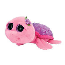 "Pyoopeo Original 6"" 18cm TY Beanie Boos Rosie the Pink Turtle Plush Stuffed Animal Doll Toy Collectible Big Eyes Dolls Toys"