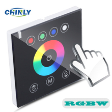 DIY home lighting NEW RGBW LED Touch switch Panel Controller LED Dimmer 12V for LED Neon flex strip lights(China)