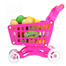 Shopping Carts Fruit Vegetable Pretend Play Children Kid Educational Toy Gift Levert Dropship Nov22(China)
