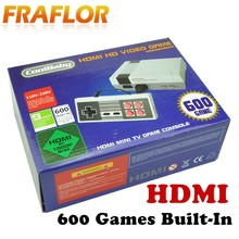 HDMI Classic Mini TV Game Console Retro Video Game Console For Nes 8 Bit Games With 600 Different Built-in Games Double Gamepads