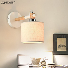 Modern Brief Bedside Solid Wood Wall Lamp Oak Wood Wall Lights For Bedroom Living Room Hotel free shipping(China)
