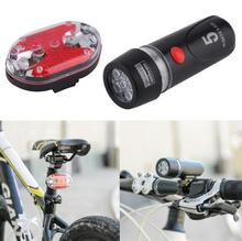 1 Set Ultra Bright Cycling Bicycle 5 LEDs Front Head Flashlight & 9 LEDs Back Rear Flash Light Laser Tail Light Bike Lamp