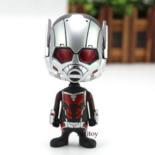 Hot Toys Civil War Marvel Ant Man PVC Action Figure Car Decoration Toy Bobble Head Doll(China)