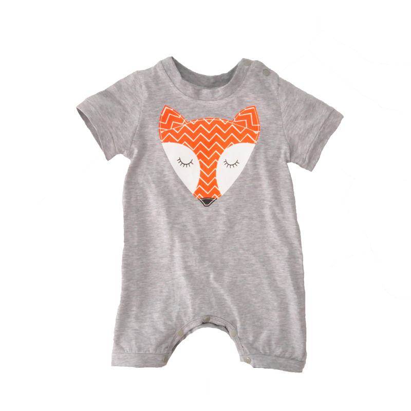 baby boy rompers summer 2016 cartoon animal short-sleeve newborn jumpsuit rompers for baby boys clothes cute fox boy girl romper<br><br>Aliexpress