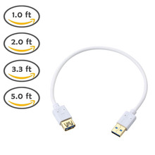 0.3m/0.6m/1m/1.5m USB 3.0 A Male to Female AM / AF Extension Data Sync Cord Cable 5Gbps QJY99(China)