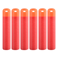 Pack of 6 Dart Refills Hollow Soft Head Foam Bullets for Nerf MAGE Toy Gun - Red